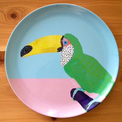Chilling Toucan - plate set