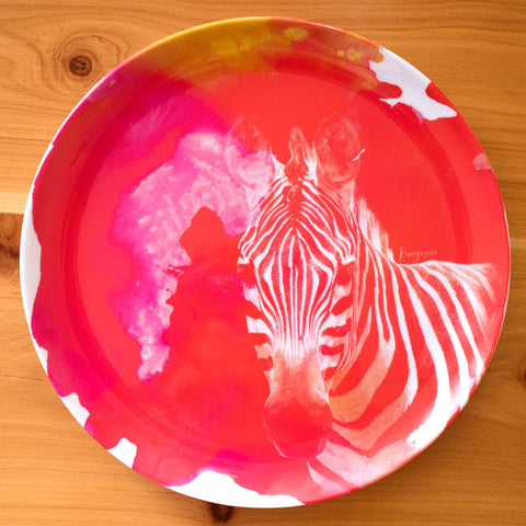 Rainbow Zebra - plate set
