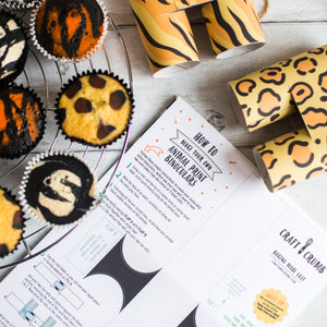 GO WILD safari cupcake kit