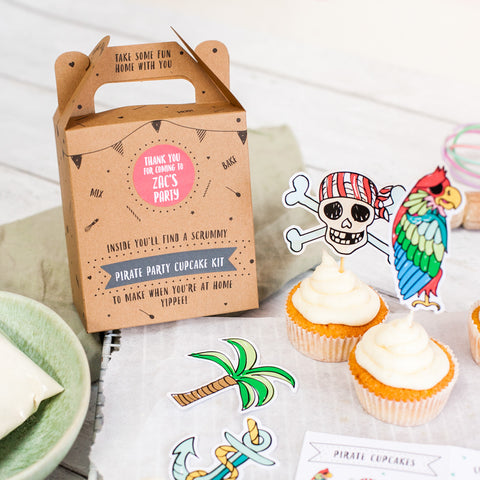 Pirate cupcake kit party bag