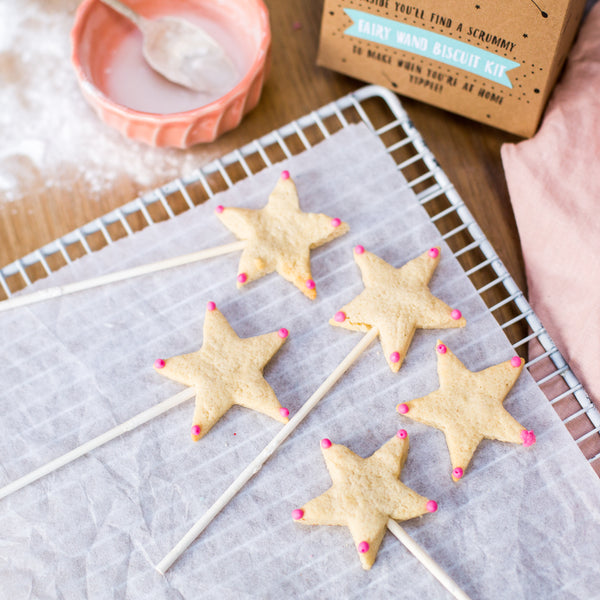 Fairy wand biscuit kit party bag