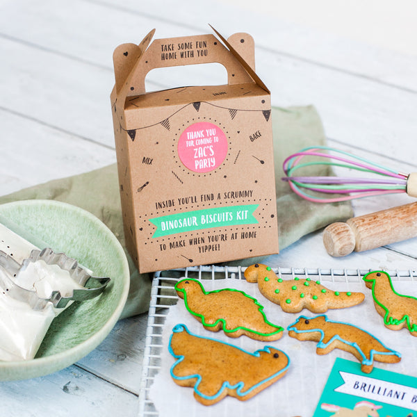 Dinosaur biscuit kit party bag