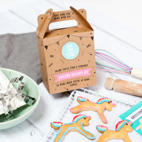 Unicorn biscuit kit party bag