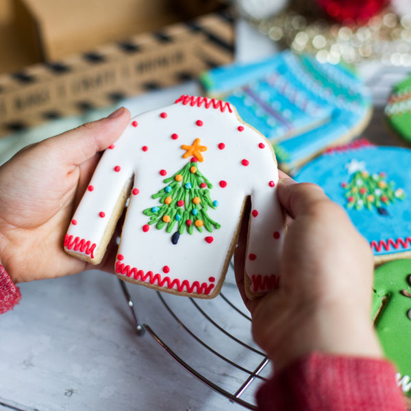 Christmas Jumper biscuit baking kit