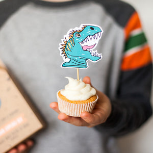 Dinosaur cupcake kit party bag