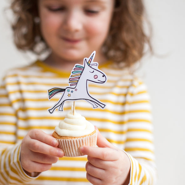 Unicorn cupcake kit party bag (pack of 5)