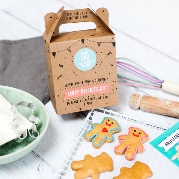 Teddy Bear biscuit kit party bag (pack of 5)