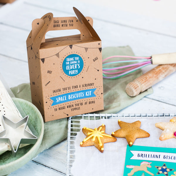 Space biscuit kit party bag
