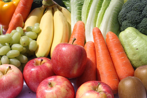Recommended Fruit and Vegetables