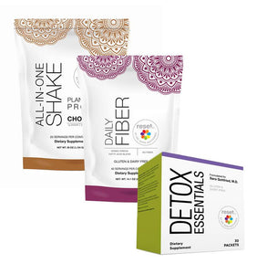 Basic Detox Kit + 7-Day Detox Program Kits FW Chocolate w/ Daily Fiber