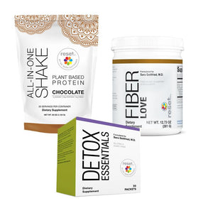 Basic Detox Kit + 7-Day Detox Program Kits FW Chocolate w/ Fiber Love