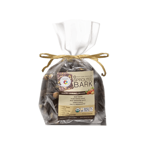 Raw Sprouted Organic Dark Chocolate Bark