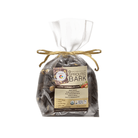 Organic Sprouted Dark Chocolate Bark Shakes Reset360 1lb Cello Bag Of Organic Dark Chocolate Bark