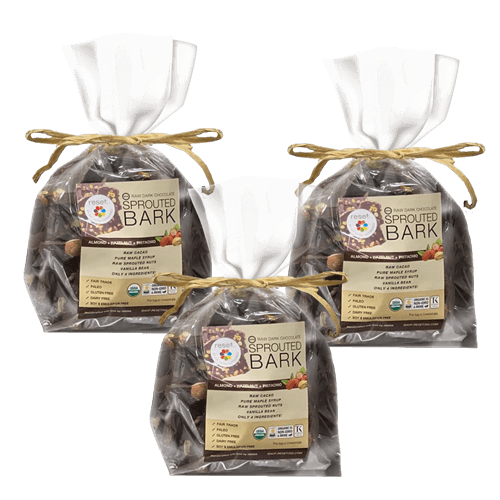 Raw Sprouted Organic Dark Chocolate Bark  - Bundle 3
