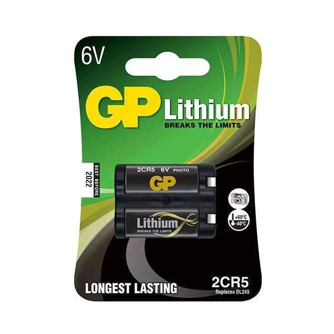 GP Batteries Lithium 2CR5 Battery - GP Batteries - KAMERAZ (11467101447)