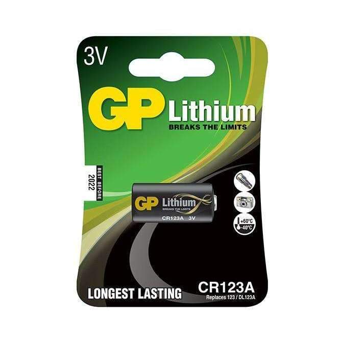 GP Batteries Lithium CR123A Battery - GP Batteries - KAMERAZ (11467031559)