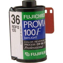 Fujifilm Fujichrome Provia 100F Professional RDP-III Color Transparency Film (35mm Roll Film, 36 Exposures) - Fujifilm - KAMERAZ