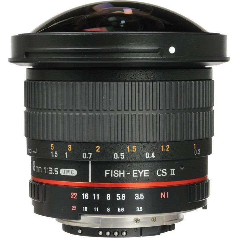 Samyang 8mm f/3.5 HD Fisheye Lens with AE Chip (Nikon) - Samyang - KAMERAZ (11426718599)