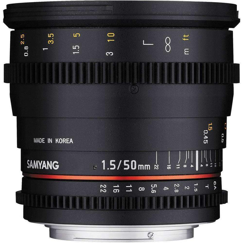 Samyang 50mm T1.5 AS UMC Cine Lens (Full Frame Sony E Mount) - Samyang - KAMERAZ (11421971271)