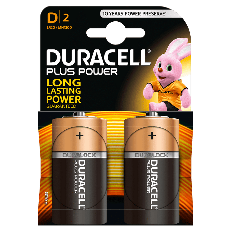Duracell D Battery (2 Pack) (754361040995)