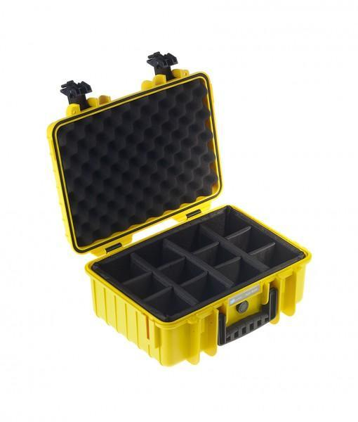B&W International Type 4000 Hard Case (Yellow) Padded Insert (613444943904)