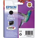 Epson T0801 Black Ink Cartridge (754421006435)
