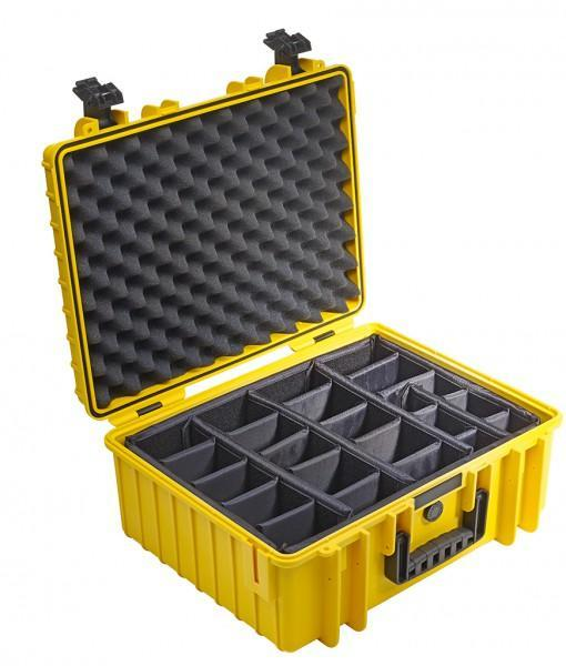 B&W International Type 6000 Hard Case (Yellow) Padded Insert (613420597280)