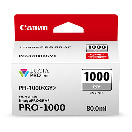 Canon PFI-1000 GY LUCIA PRO Grey Ink Tank (80ml)