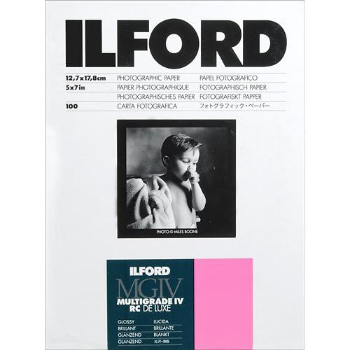 "Ilford Multigrade IV RC DeLuxe Paper (Glossy, 5 x 7"", 100 Sheets) (1515256807523)"