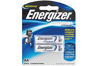 Energizer Ultimate Lithium AA Batteries 2 Pack (750371274851)