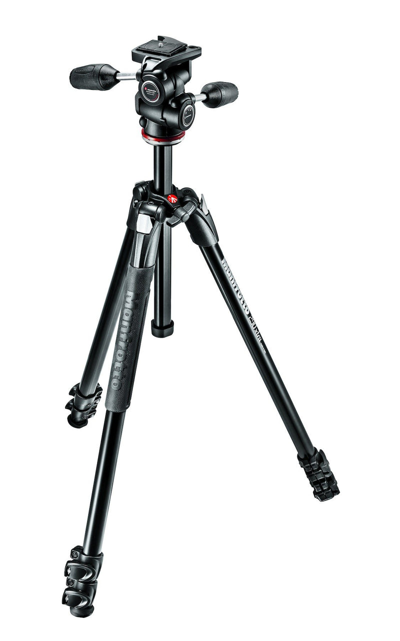 Manfrotto MK290XTA3-3W New 290 Xtra Aluminium 3-Section Kit with 3-Way Head (752023175267)