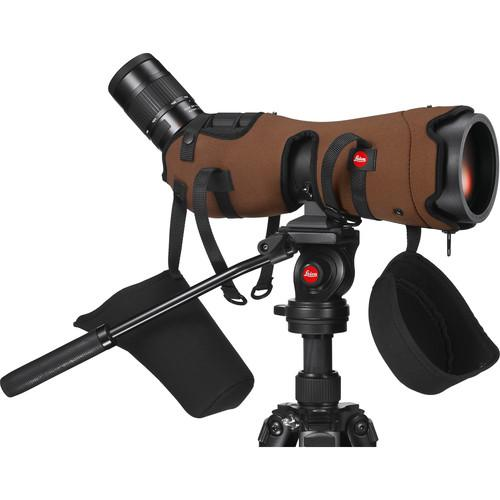 Leica Ever-Ready Stay-On Case for the APO-Televid 82 W Spotting Scope (Angled, Brown) (743713734755)