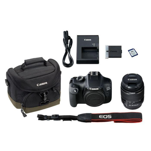 Canon EOS 4000D DSLR with EF-S 18-55mm DC Lens, Bag & 16GB Card (787474186339)