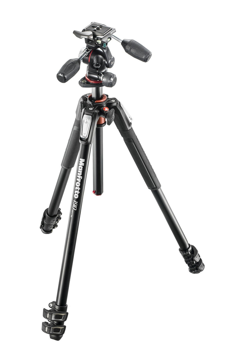 Manfrotto MK190XPRO3-3W New 190 Alu 3-Section Kit with XPRO 3-Way Head (752019439715)