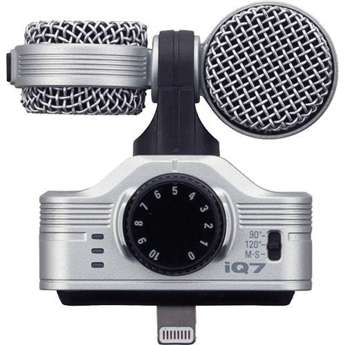 Zoom iQ7 Mid-Side Stereo Microphone for iOS Devices with Lightning Connector (789966356579)