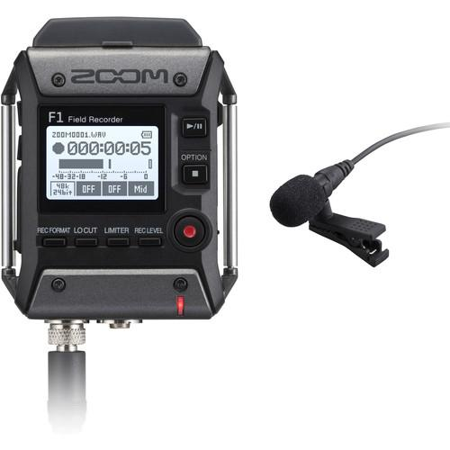 Zoom F1 Field Recorder with Lavalier Microphone (782804582499)