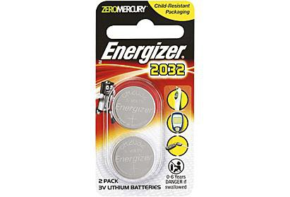 Energizer CR2032 3v Lithium Coin Battery 2 Pack (750379663459)