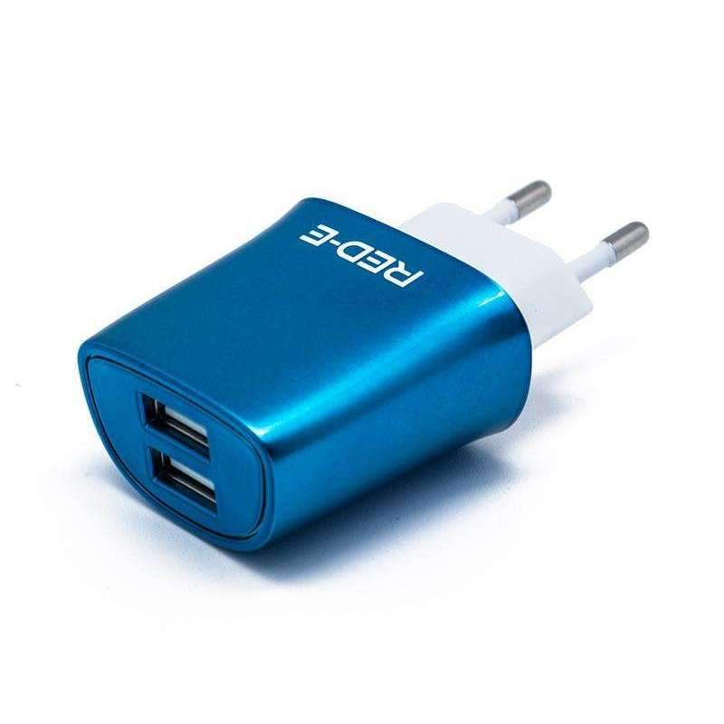 Dual 2.1A USB Charger - Wall - Red-E - KAMERAZ (9108954311)