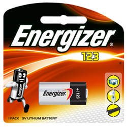 Energizer Lithium CR123 3V Battery - Energizer - KAMERAZ