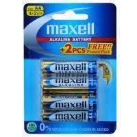 Maxell Alkaline AA Batteries 4+2 Pack (11464869895)
