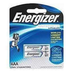 Energizer Ultimate Lithium AAA Batteries 2 Pack - Energizer - KAMERAZ (11464990215)