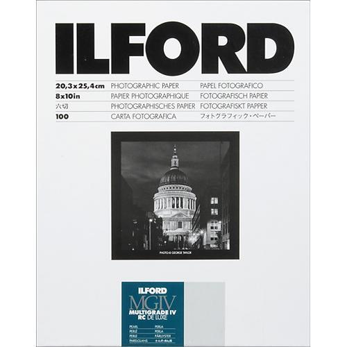 "Ilford Multigrade IV RC DeLuxe Paper (Pearl, 8 x 10"", 100 Sheets) (782298906723)"