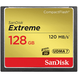 SanDisk 128GB Extreme 120MB/s CompactFlash Memory Card