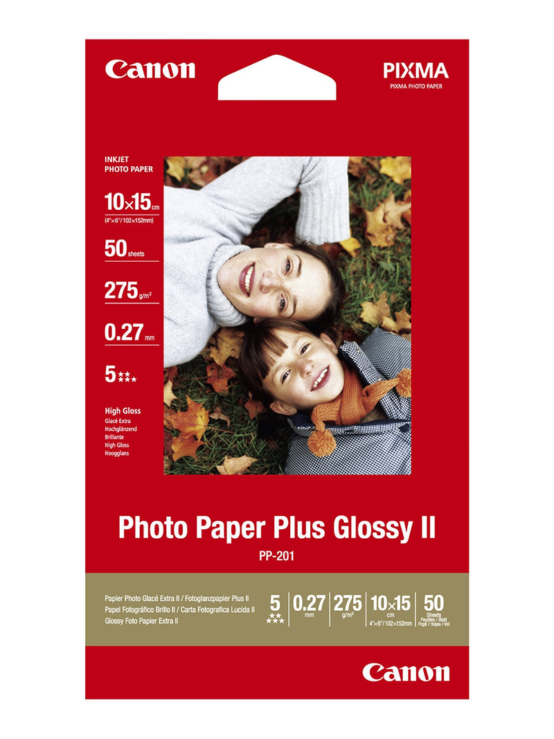 Canon PP-201 4x6 275gsm Plus Glossy Photo Paper (50 Sheets) (756837875811)