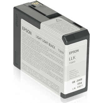 Epson T5809 Light Light Black Ink Cartridge (754551521379)