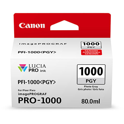 Canon PFI-1000 PGY LUCIA PRO Photo Grey Ink Tank (80ml)