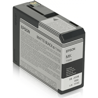 Epson T5808 Matte Black Ink Cartridge (754551488611)