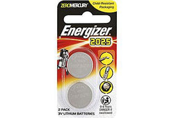 Energizer CR2025 3v Lithium Coin Battery 2 Pack