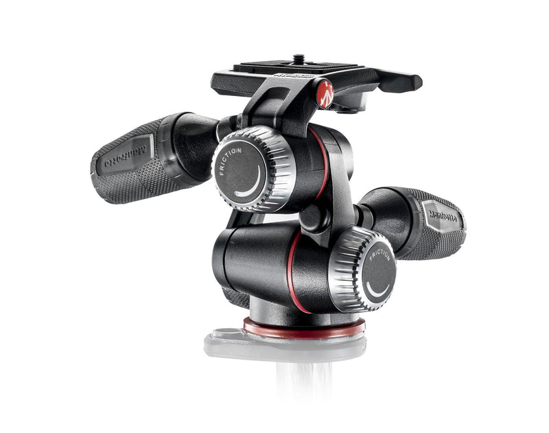 Manfrotto X-PRO 3-Way tripod head with retractable levers (754390106211)