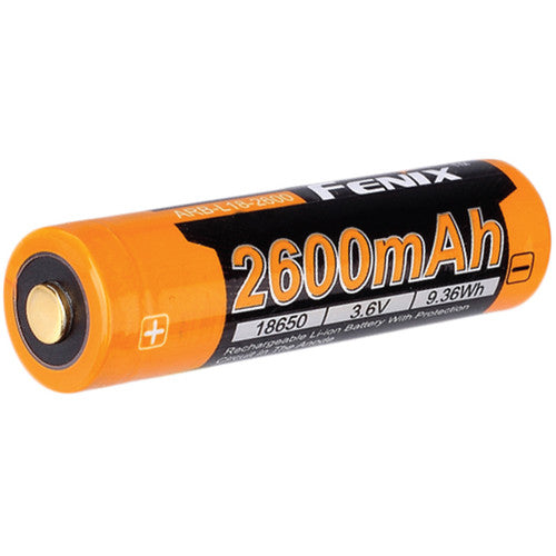Fenix Flashlight 18650 Rechargeable Lithium-Ion Battery (3.6V, 2600mAh) (1442285912163)